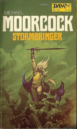 Moorcock's Stormbringer, a facinating conclusion to the Elric saga from the short story and short novel era, is fast paced, adventurous, and to the point without unnecessary subplots focusing mostly upon one character - Elric. It contains a host of epic level mind candy to awe readers consuming only about 80K words.